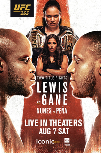 UFC 265: Lewis vs. Gane Poster