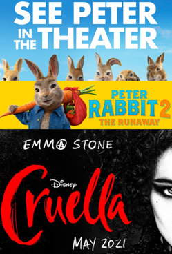 Double Feature: Peter Rabbit 2 + Cruella